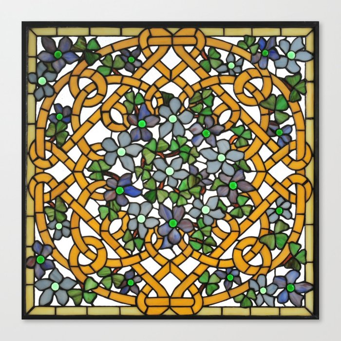 Louis Comfort Tiffany.Louis Comfort Tiffany Decorative Stained Glass 11 Canvas Print By Alexandra Arts