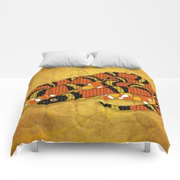 Mexican Candy Corn Snake Comforters