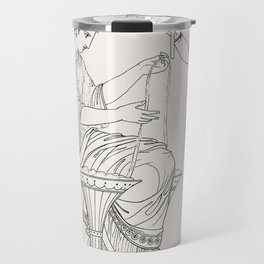 Priest of Bacchus  attendant from An  of the Egyptian Grecian and Roman costumes by Thomas Baxter(17 Travel Mug