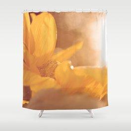 Sun Flare Sunflower Shower Curtain