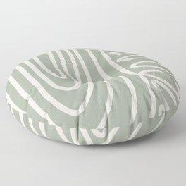 Pathways in Sage  Floor Pillow