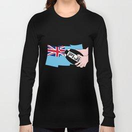 Fiji Rugby Flag Long Sleeve T-shirt