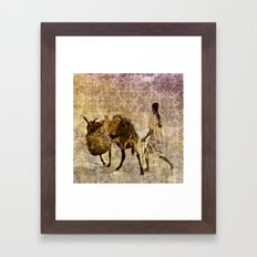 island tapestry Framed Art Print