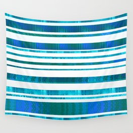 Chillout Stripy (blue-green) Wall Tapestry