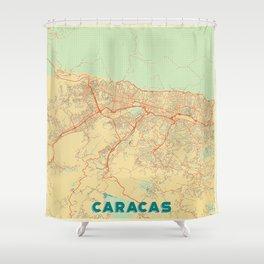 Caracas Map Retro Shower Curtain