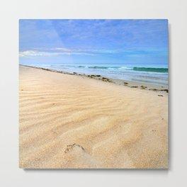 """Levante sea"" Tarifa beach at sunrise Metal Print"