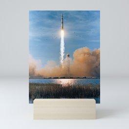 Apollo 8 - Saturn V Liftoff! Mini Art Print