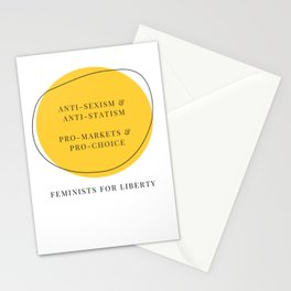 Anti-Sexism & Anti-Statism, Pro-Markets & Pro-Choice Stationery Cards
