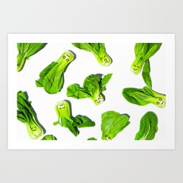 Bak Choy Happiness Art Print
