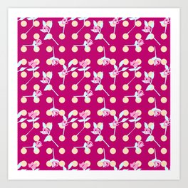 roses and dots Art Print