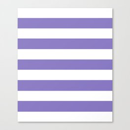 Ube - solid color - white stripes pattern Canvas Print