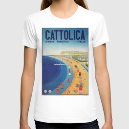 Cattolica 1920s Italy travel T-shirt