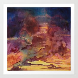 Sunset Rain II Art Print