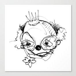 Clowns in Crowns #1 Canvas Print