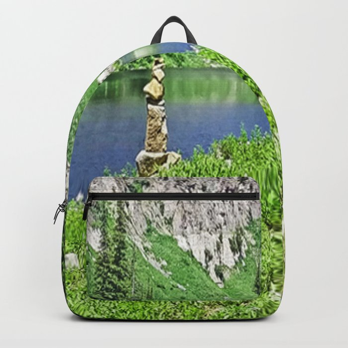 Statue by the Lake Backpack