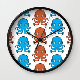 Octopus With Glasses Wall Clock
