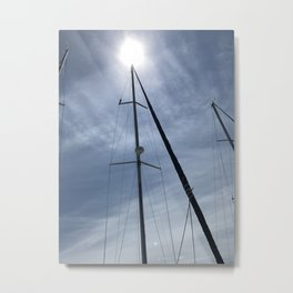 Let's Go Sailillng Metal Print