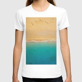 turquoise ocean wave sandy beach T-shirt