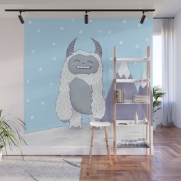 Yeti in the Mountains - Blue Wall Mural