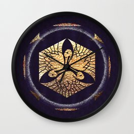Japanese Swan Traditional Motif Wall Clock