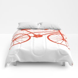 Red Bike by Friztin Comforters