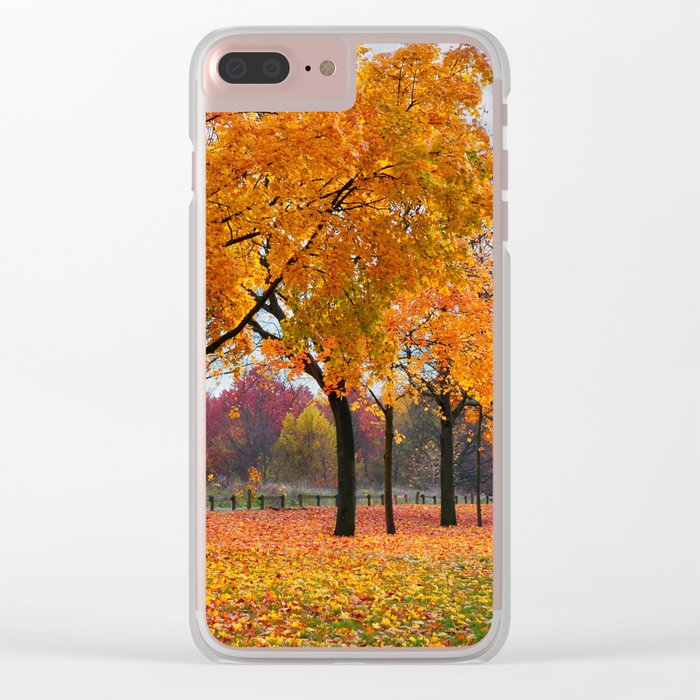 Autumn trees 47 Clear iPhone Case