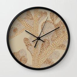earthy swirls Wall Clock