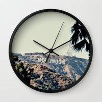 hollywood Wall Clocks featuring Hollywood  by sam may create.