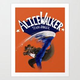 Alice Walker Texas Ranger Art Print