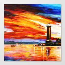 Light Art Tower Canvas Print