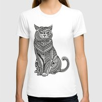 british T-shirts featuring Polynesian British Shorthair cat by Huebucket