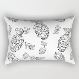 Hops pattern with leafs Rectangular Pillow
