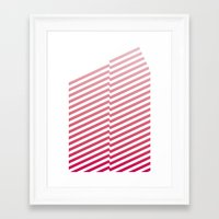 bands Framed Art Prints featuring Red Bands by blacknote