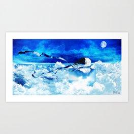 Sonhos e mentiras Art Print