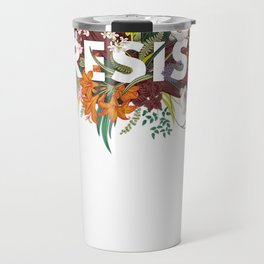 RESIST Floral Anti Trump Political Protest T-Shirt Travel Mug