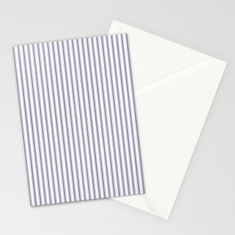 Mattress Ticking Narrow Striped Pattern in USA Flag Blue and White Stationery Cards