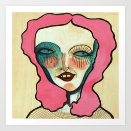 """""""A Very Colorful Woman"""" Art Print"""