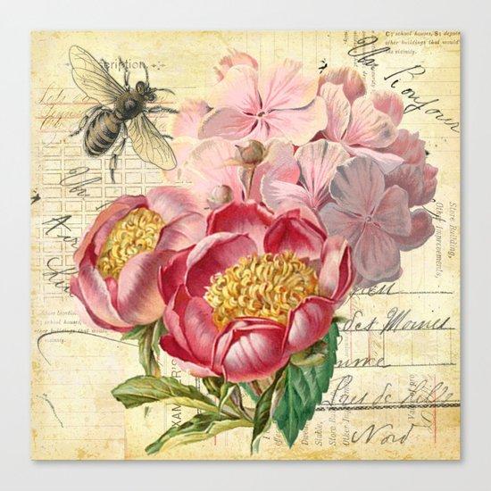 Vintage Flowers #20 Canvas Print