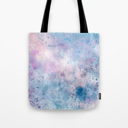 Spring Riff, Abstract, Blue, Pink Tote Bag