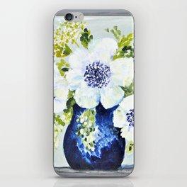 Anemones in vase iPhone Skin