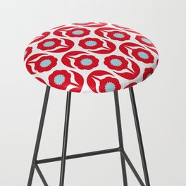 Joy collection - Red flowers Bar Stool