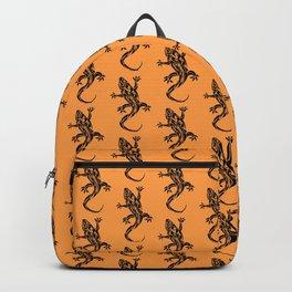 Gecko Tattoo Pattern Beige Backpack
