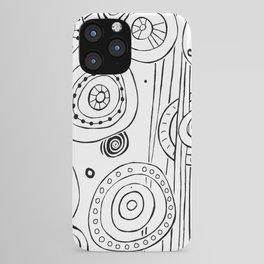 Intergalactic - Black on White iPhone Case