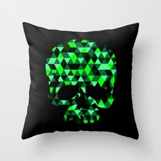Triangle Camouflage Skull (BLACK) Throw Pillow