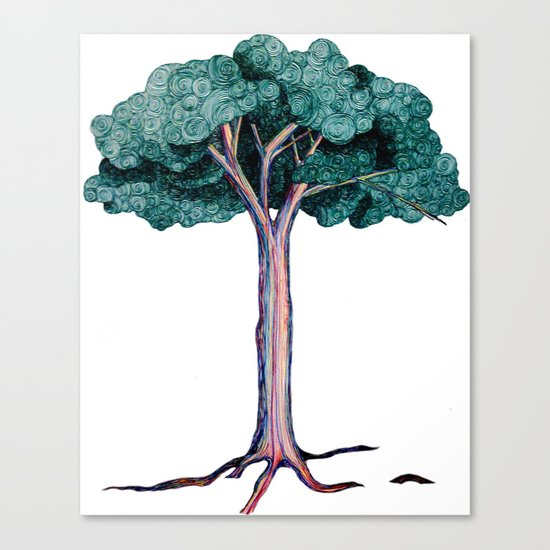 Spiral Tree Canvas Print