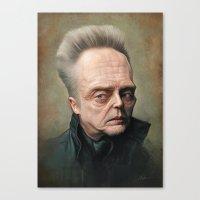 christopher walken Canvas Prints featuring Christopher Walken by Derek Wehrwein