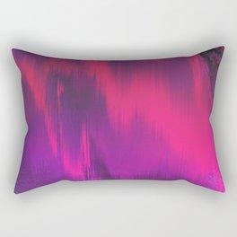 Abstract modern bright pink violet black brushstrokes Rectangular Pillow