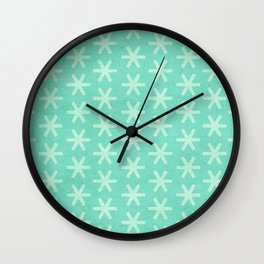 Asterisk Small - Turquoise Wall Clock