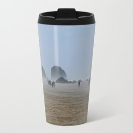 Misty Morning At Cannon Beach Travel Mug