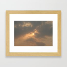 Hope Behind the Fire Framed Art Print